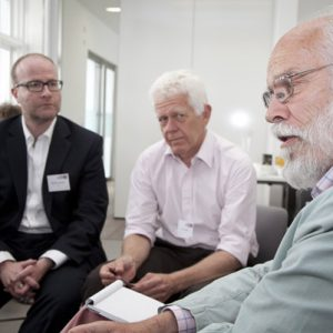 Stephen Hornby, Clive Martin and Professor Rod Morgan at 'Just Results'