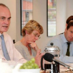 Roma Hooper, Rob Owen and Crispin Blunt at the REFORM Conference